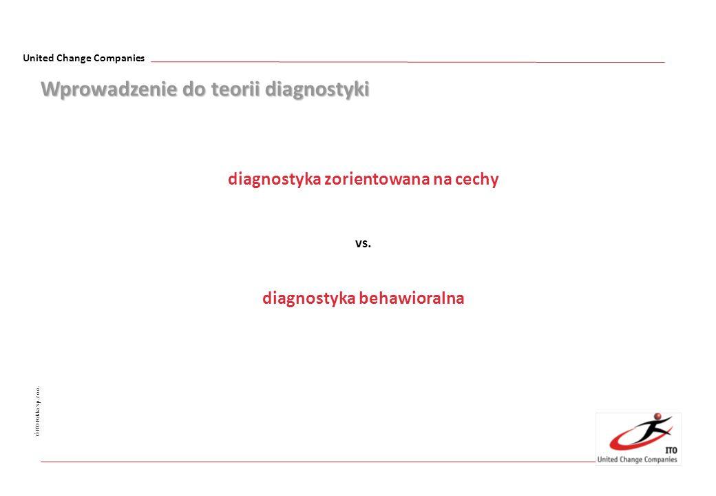 United Change Companies Ó ITO Polska Sp. z o.o. Wprowadzenie do teorii diagnostyki diagnostyka zorientowana na cechy vs. diagnostyka behawioralna