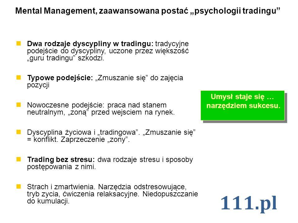 Mental Management, zaawansowana postać psychologii tradingu Dwa rodzaje dyscypliny w tradingu: tradycyjne podejście do dyscypliny, uczone przez większ