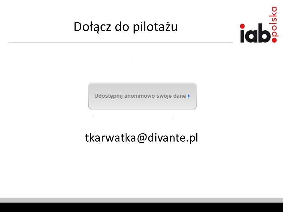 Dołącz do pilotażu tkarwatka@divante.pl