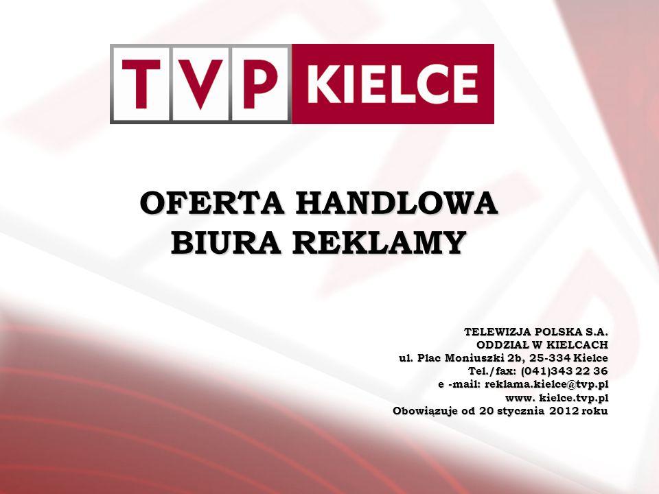 Zapraszamy do współpracy Dział Reklamy Marketingu i Promocji TVP Kielce Tel.