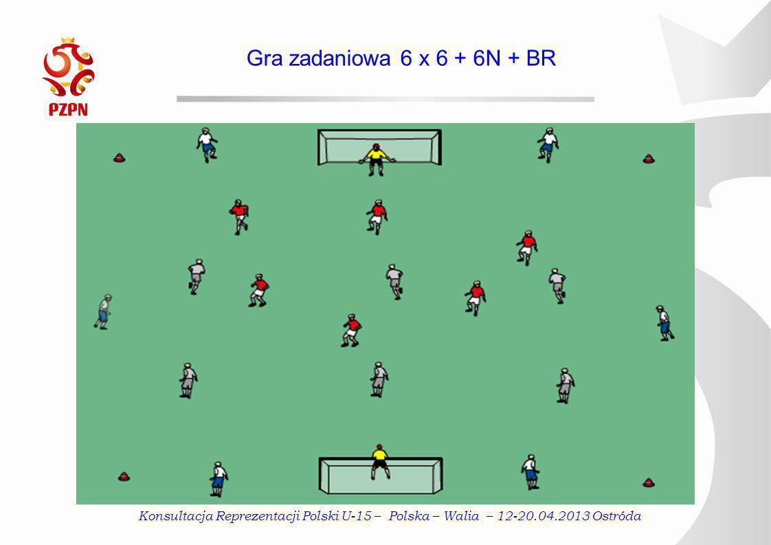 Gra zadaniowa 6 x 6 + 6N + BR Konsultacja Reprezentacji Polski U-15 – Polska – Walia – 12-20.04.2013 Ostróda