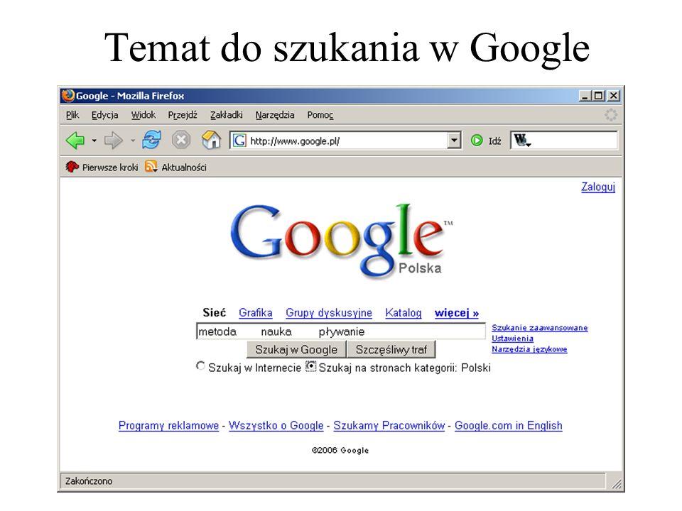 14 Tworzenie fraz wyszukiwania Operatorznaczenie Cały tekst pomiędzy cudzysłowami musi się znajdować na tej stronie.