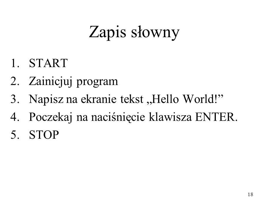 19 START Write (Hello World) Read STOP