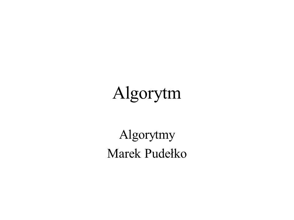 2 Definicja Algorytm to skończony, uporządkowany ciąg jasno zdefiniowanych czynności, koniecznych do wykonania pewnego zadania.