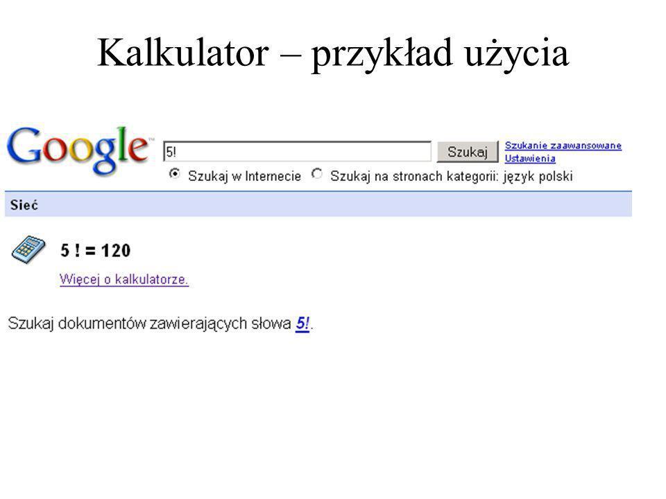 Kalkulator – polecenia cz.