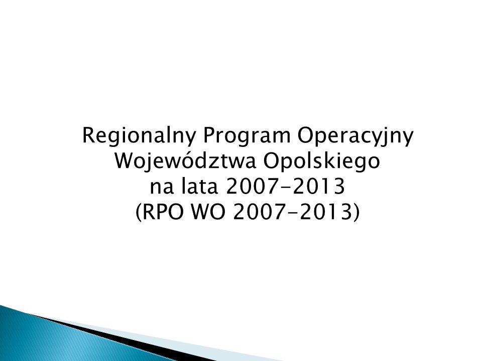 Regionalny Program Operacyjny Województwa Opolskiego na lata 2007-2013 (RPO WO 2007-2013)