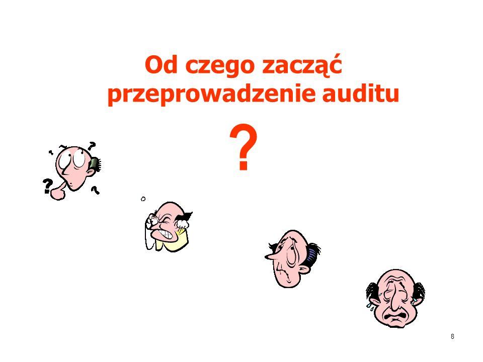 8 Od czego zacząć przeprowadzenie auditu ?