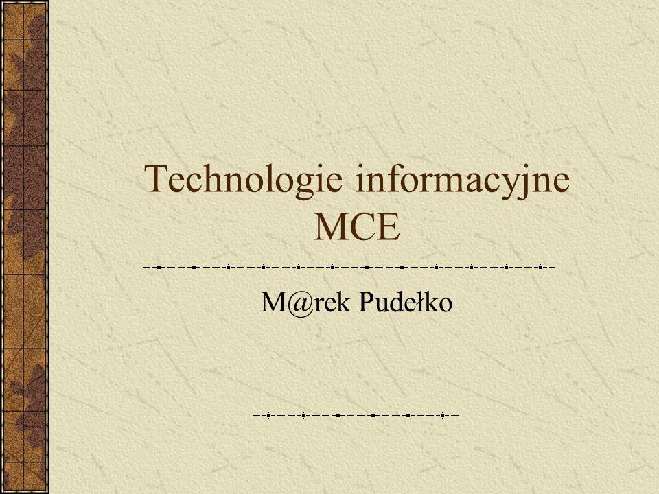 Technologie informacyjne MCE M@rek Pudełko