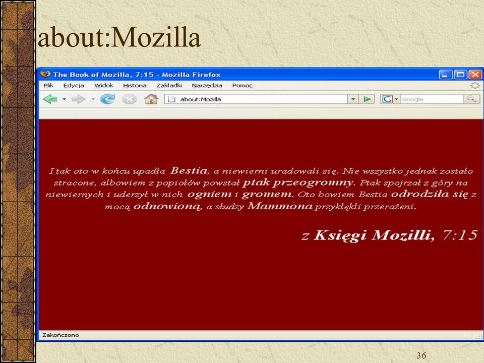 36 about:Mozilla