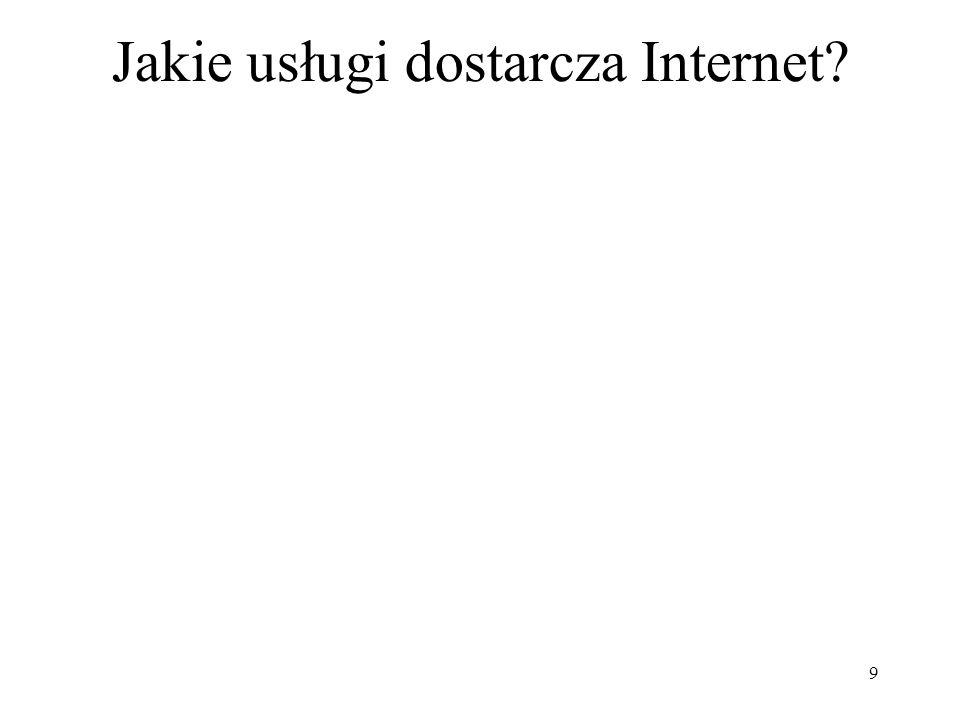 9 Jakie usługi dostarcza Internet?