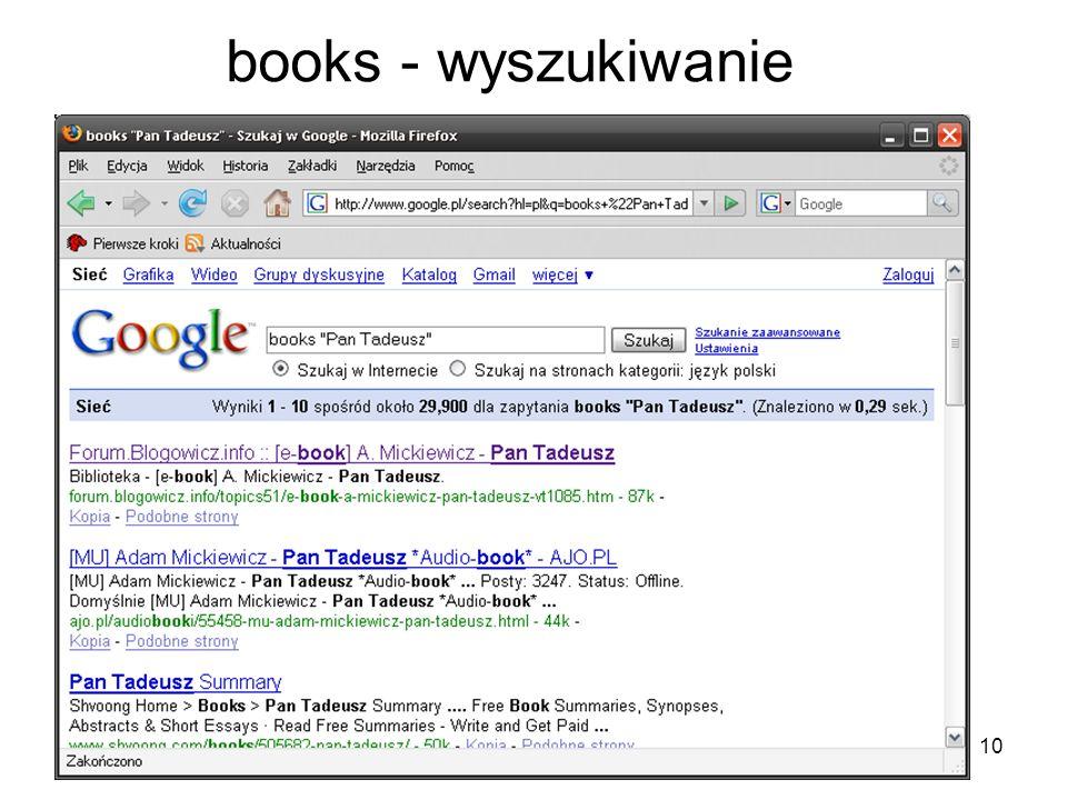 10 books - wyszukiwanie