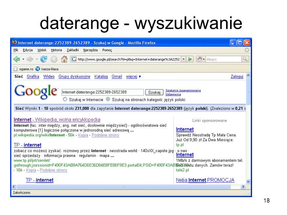18 daterange - wyszukiwanie