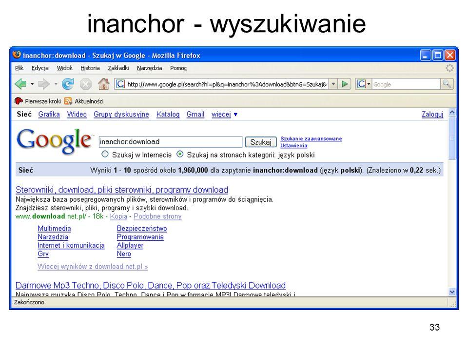 33 inanchor - wyszukiwanie