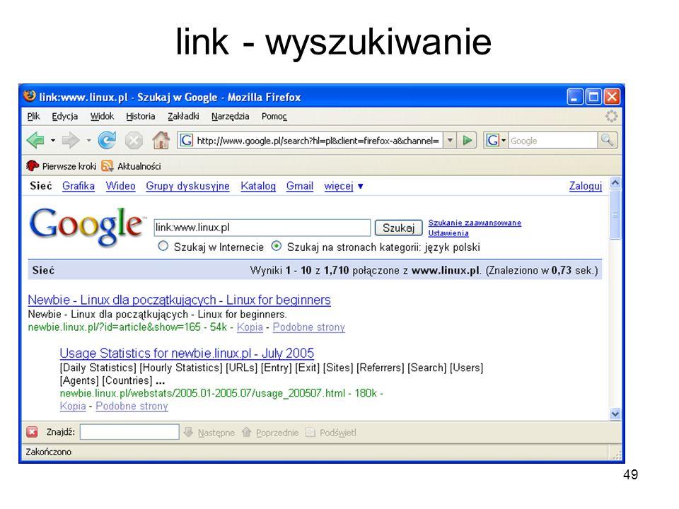 49 link - wyszukiwanie
