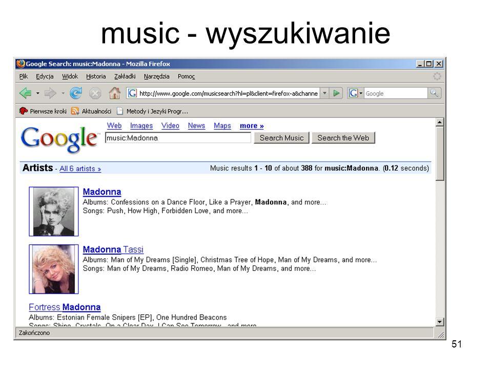 51 music - wyszukiwanie