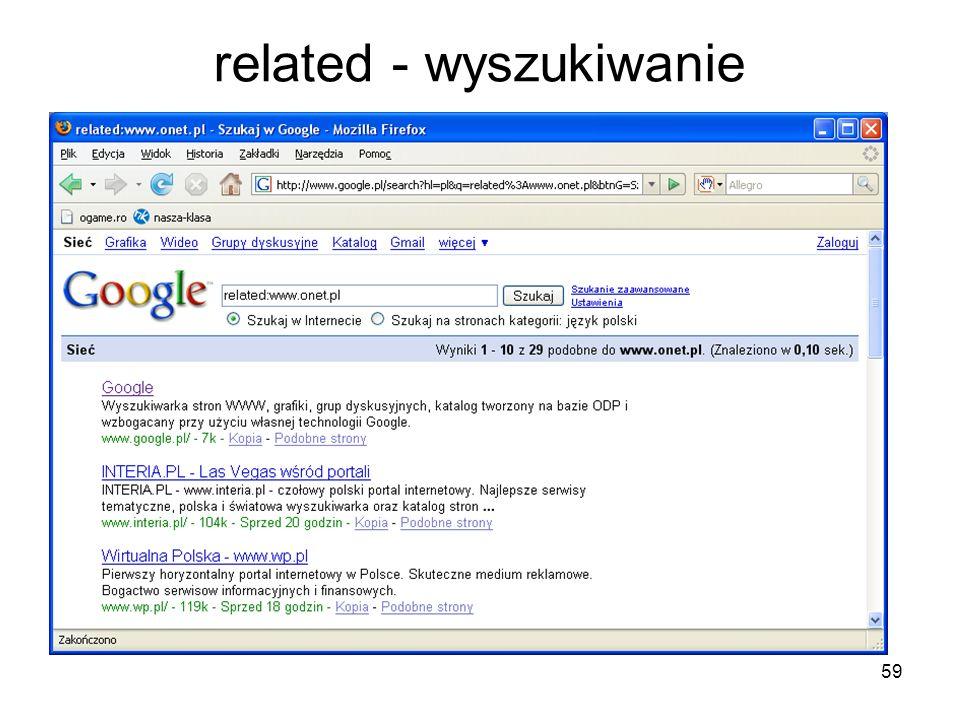 59 related - wyszukiwanie