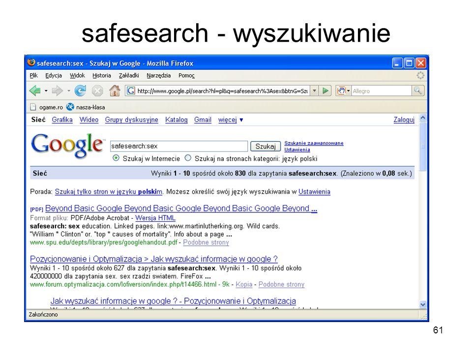 61 safesearch - wyszukiwanie