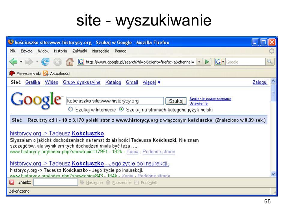 65 site - wyszukiwanie
