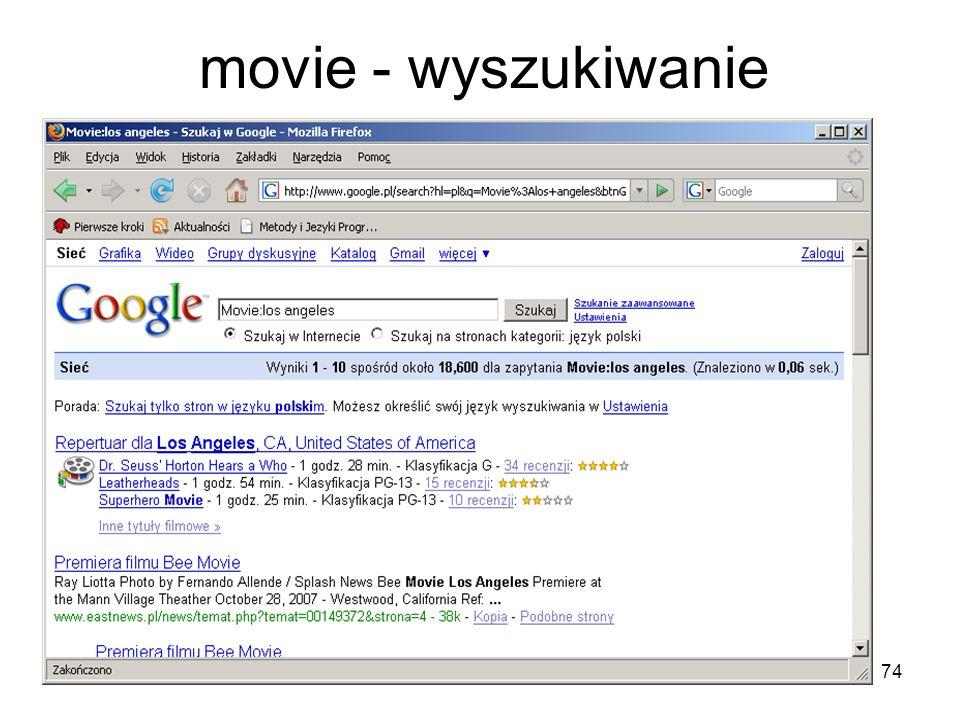 74 movie - wyszukiwanie
