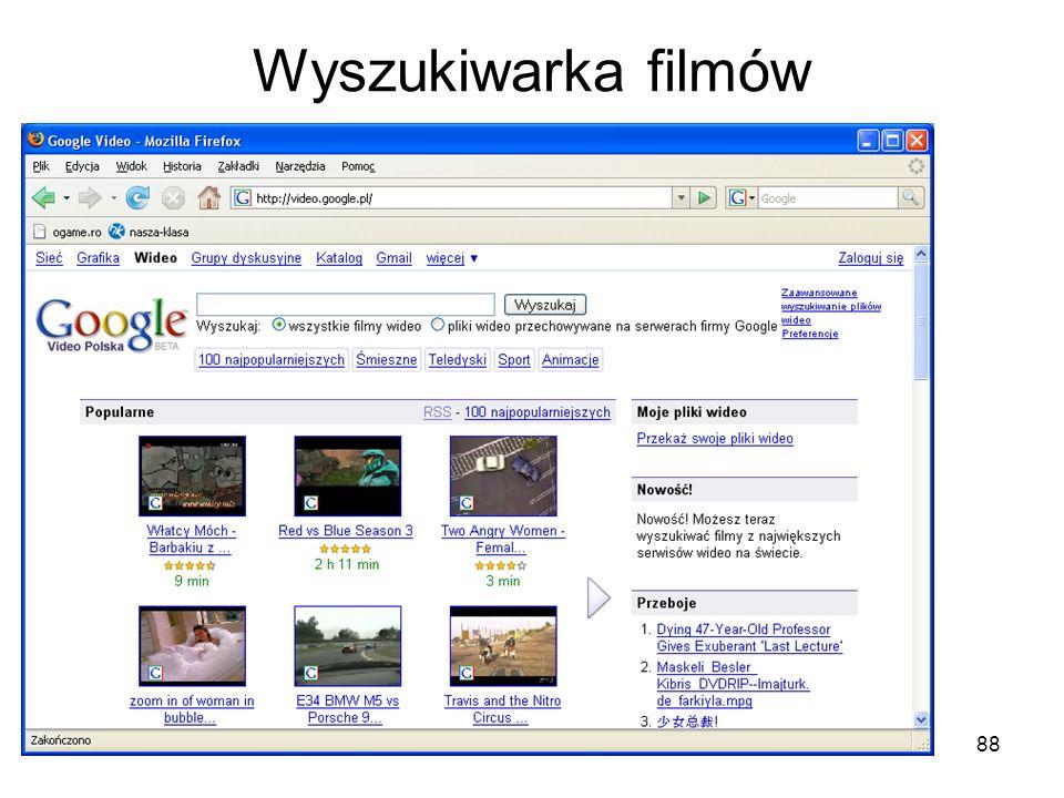 88 Wyszukiwarka filmów