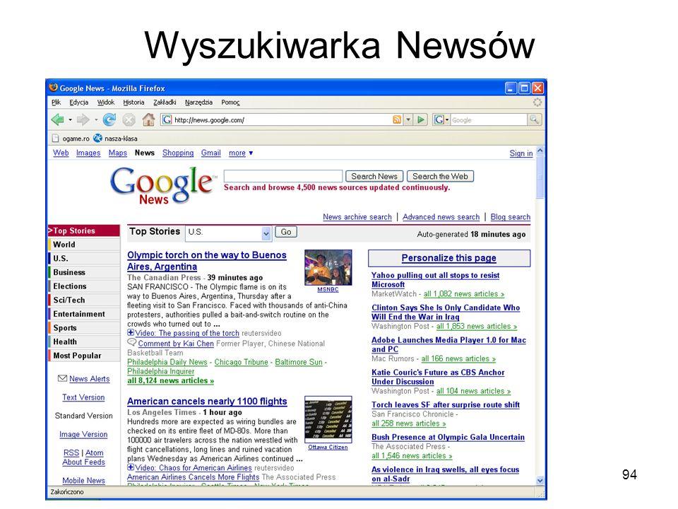 94 Wyszukiwarka Newsów
