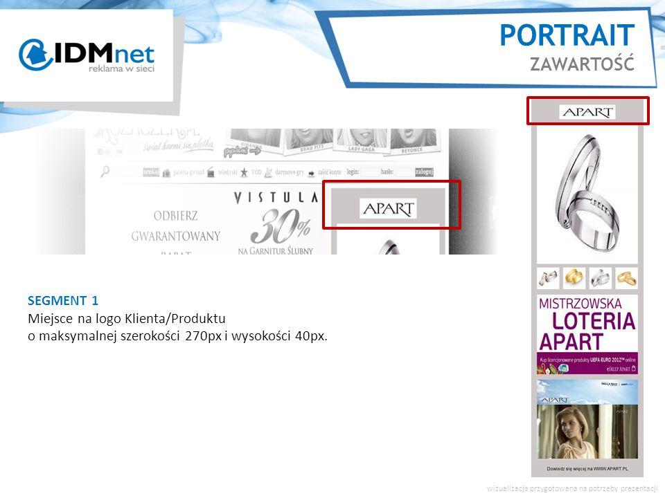 SEGMENT 1 Miejsce na logo Klienta/Produktu o maksymalnej szerokości 270px i wysokości 40px.