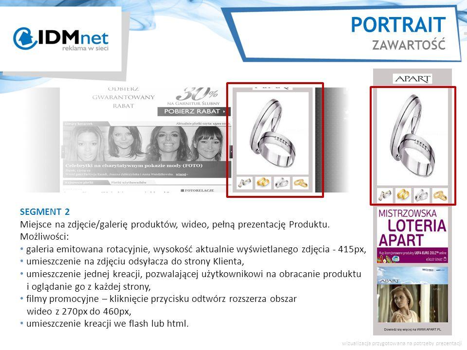 SEGMENT 2 Miejsce na zdjęcie/galerię produktów, wideo, pełną prezentację Produktu.