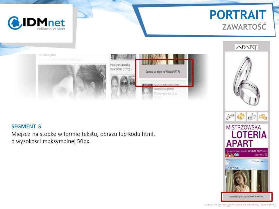 SEGMENT 5 Miejsce na stopkę w formie tekstu, obrazu lub kodu html, o wysokości maksymalnej 50px.
