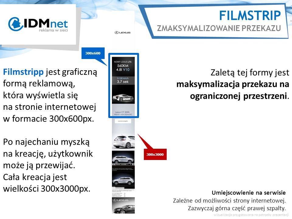 FILMSTRIP FORMAT HALF PAGE Rodzaje interakcji z reklamą aby przewijać jej zawartość.