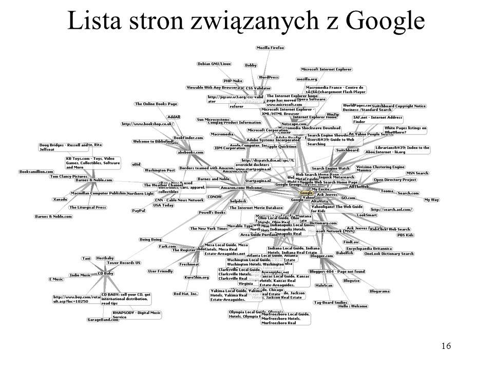 17 Usługi Google Google stopniowo poszerza swoja ofertę usług.