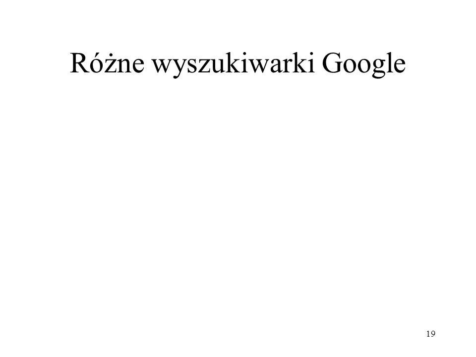 20 Google Accessible Search www.labs.google.com/accessible Wersja wyszukiwarki dla niedowidzących.
