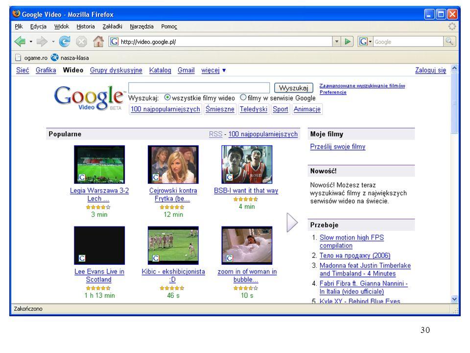 31 Różne usługi Internetowe