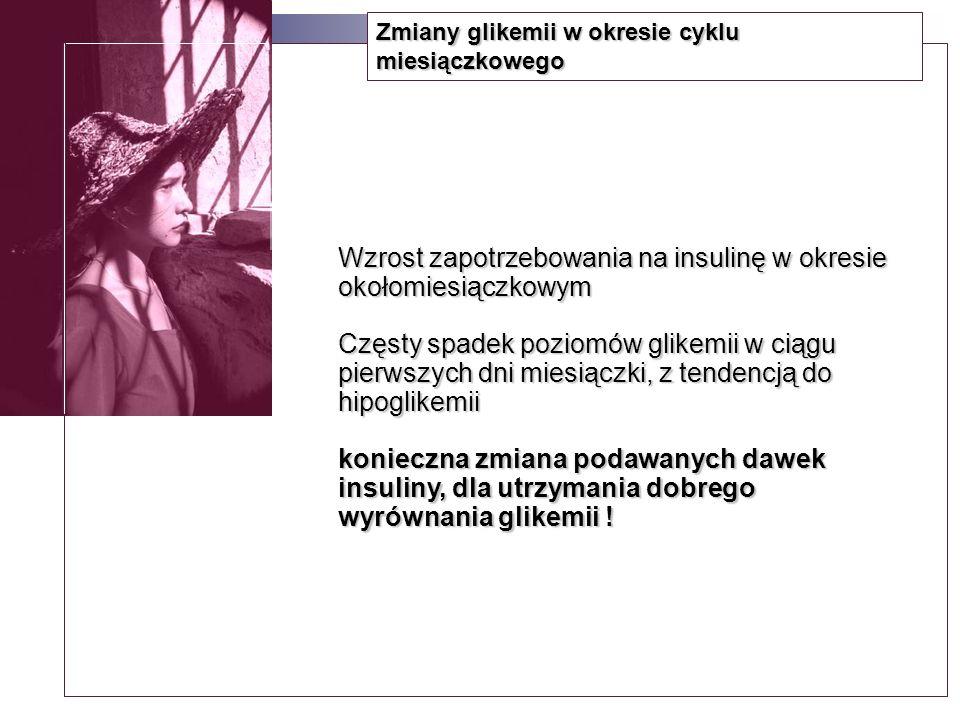 Profile glikemii u zdrowych kobiet badanych CGMS wg Ben Harauscha; AJOG 2004 Średni dobowy profil glikemii83,7±18 mg/dl Średnia glikemia na czczo75,0±12 mg/dl Średnia glikemia 1 godz.