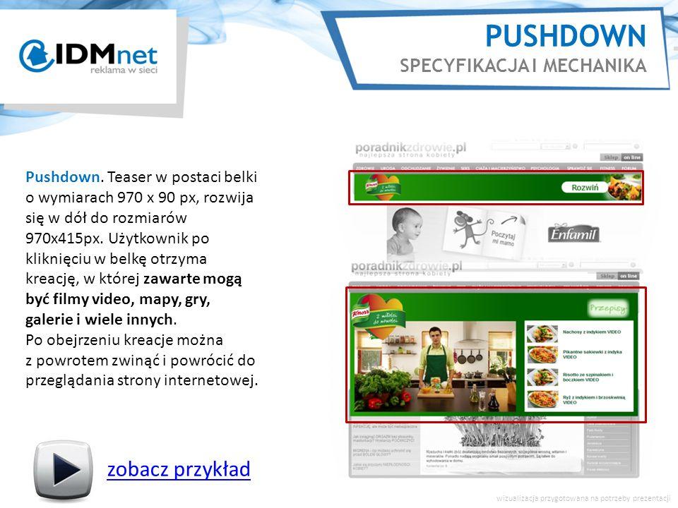 PUSHDOWN SPECYFIKACJA I MECHANIKA zobacz przykład wizualizacja przygotowana na potrzeby prezentacji Pushdown.