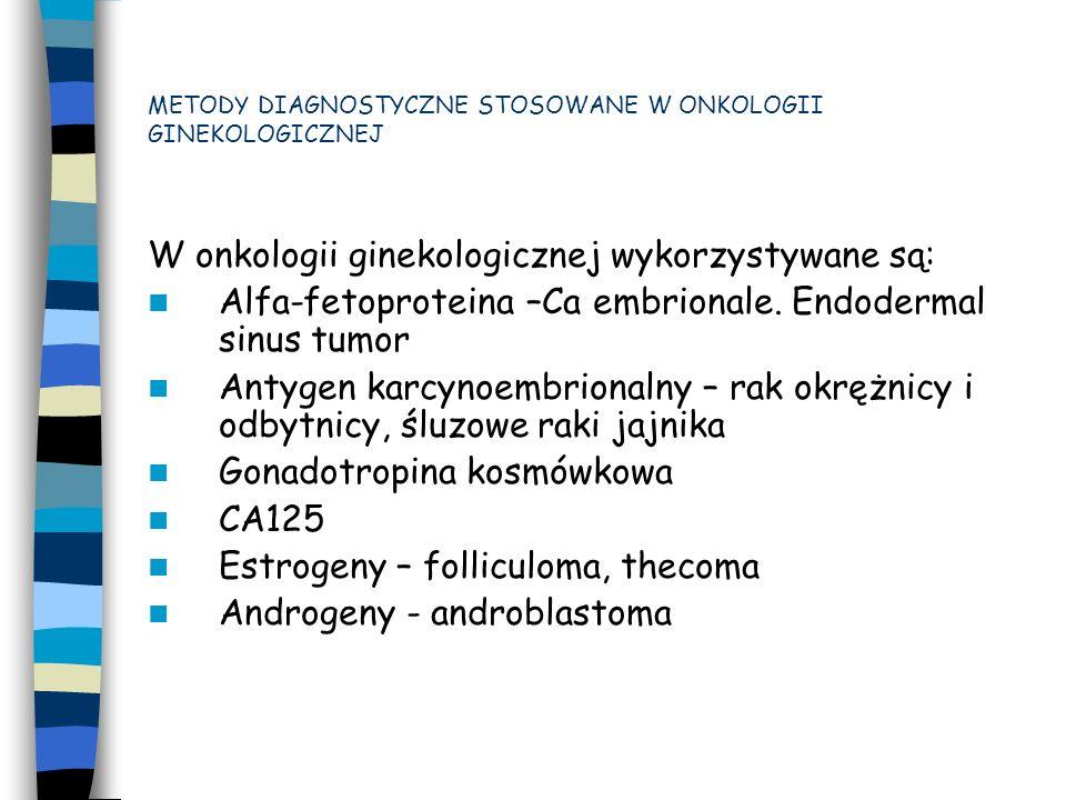 Metody endoskopowe - Kolposkopia - Histeroskopia - Laparoskopia - Operacja second-look - Kolonoskopia METODY DIAGNOSTYCZNE STOSOWANE W ONKOLOGII GINEKOLOGICZNEJ