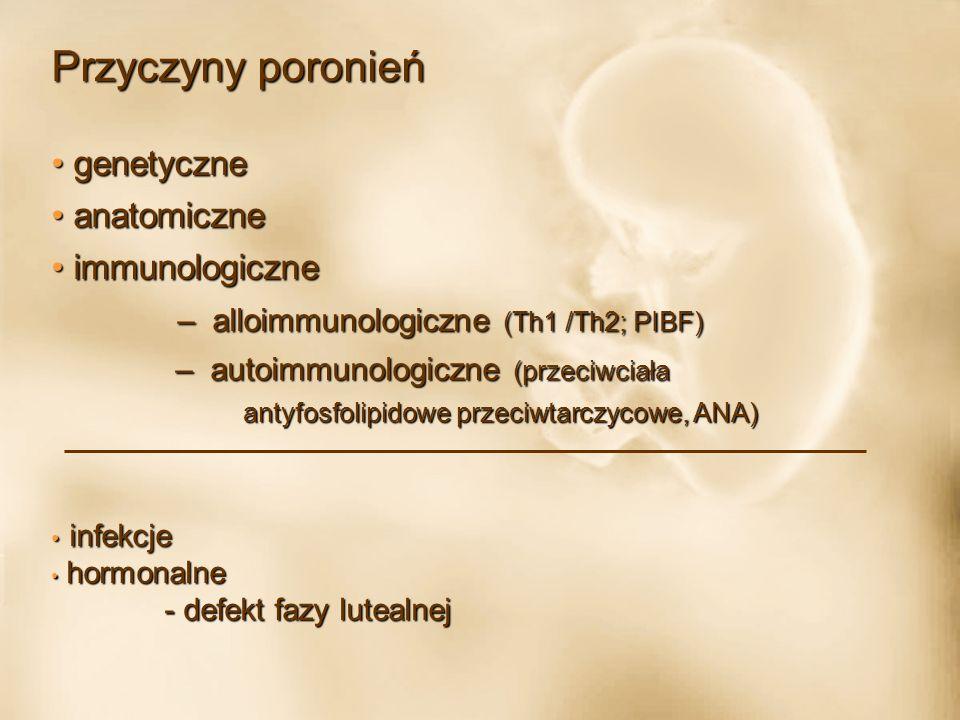 Badania dodatkowe Badania dodatkowe 1.Cytogenetyczne badania zarodka / kosmówki 2.