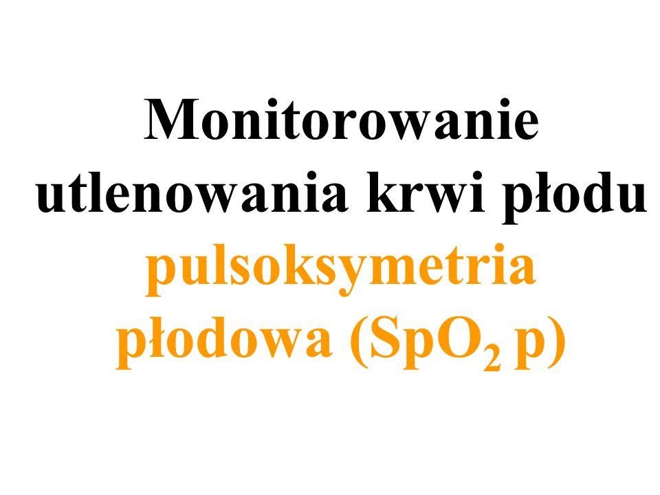 Monitorowanie utlenowania krwi płodu pulsoksymetria płodowa (SpO 2 p)