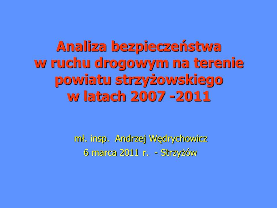 Analiza bezpieczeństwa w ruchu drogowym na terenie powiatu strzyżowskiego w latach 2007 -2011 mł.
