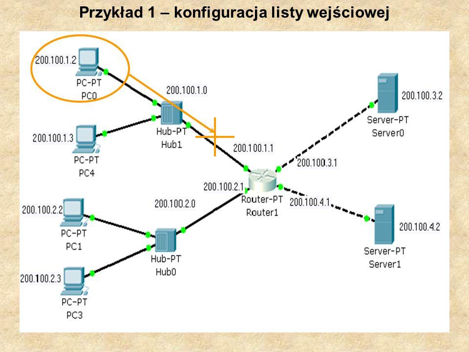 PSK Laboratorium 919 Przykład 1 – konfiguracja listy wejściowej