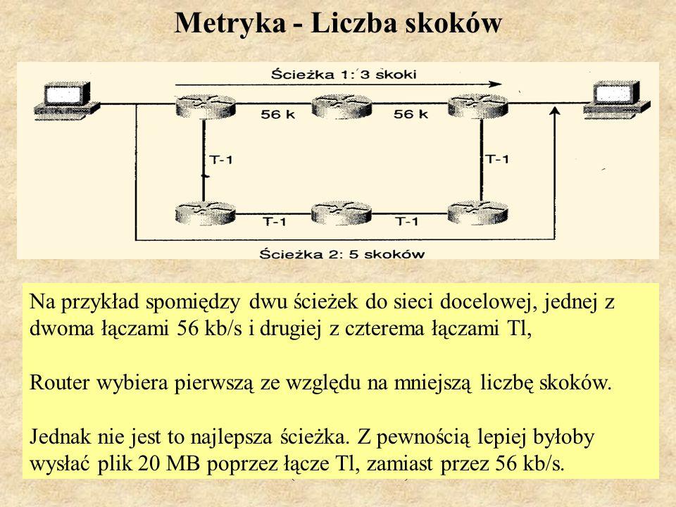 MS (PSK Laboratorium 4)13 Na rysunku, Ścieżka l ma dwa segmenty, jeden 256 kb/s i drugi 512 kb/s.