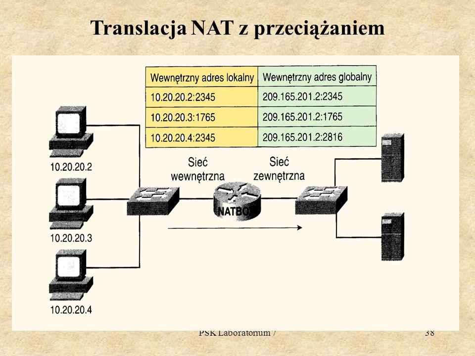 PSK Laboratorium 738 Translacja NAT z przeciążaniem