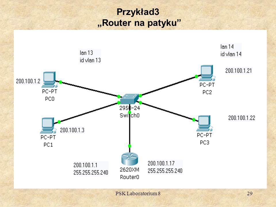 PSK Laboratorium 829 Przykład3 Router na patyku