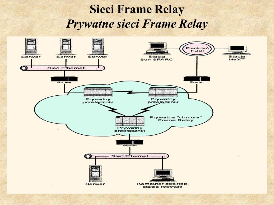 SK Laboratorium 617 Sieci Frame Relay Prywatne sieci Frame Relay
