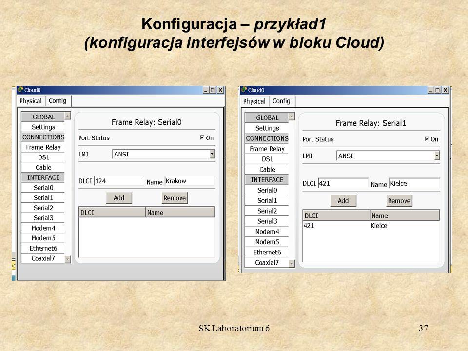 SK Laboratorium 637 Konfiguracja – przykład1 (konfiguracja interfejsów w bloku Cloud)