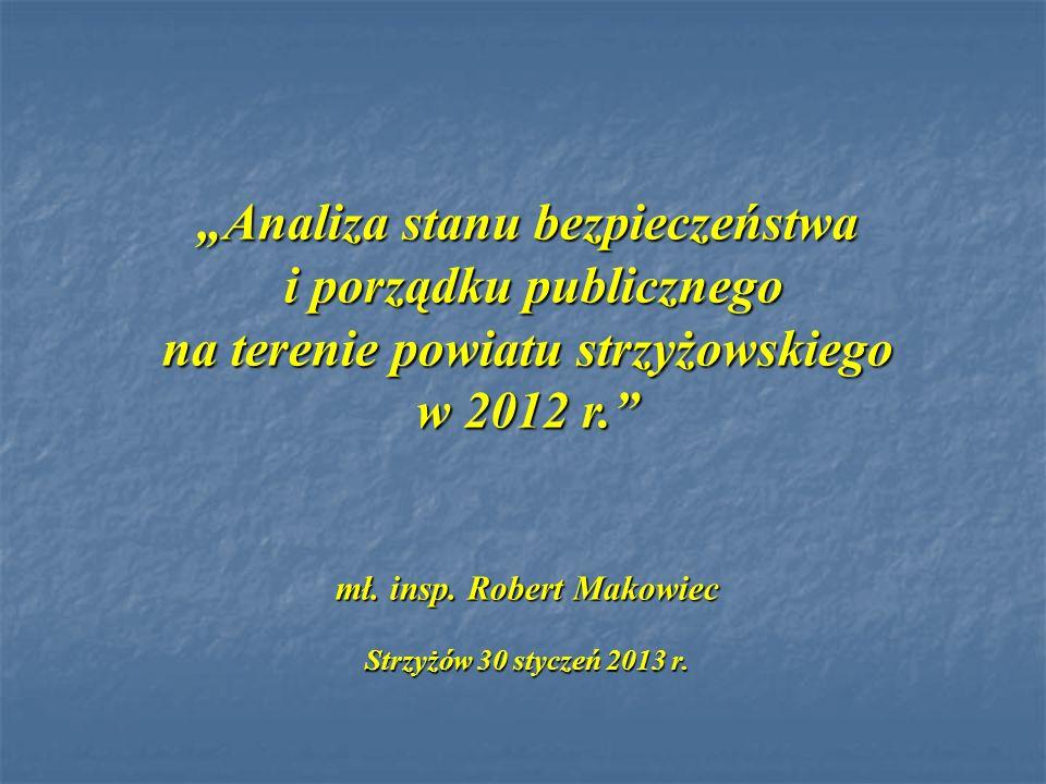 Analiza stanu bezpieczeństwa i porządku publicznego na terenie powiatu strzyżowskiego w 2012 r. i porządku publicznego na terenie powiatu strzyżowskie