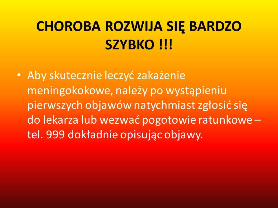 CHOROBA ROZWIJA SIĘ BARDZO SZYBKO !!.