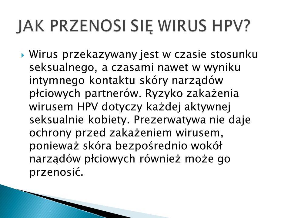 Na zakażenie onkogennym typem wirusa HPV, a co za tym idzie na zachorowanie na raka szyjki macicy narażona jest każda kobieta.