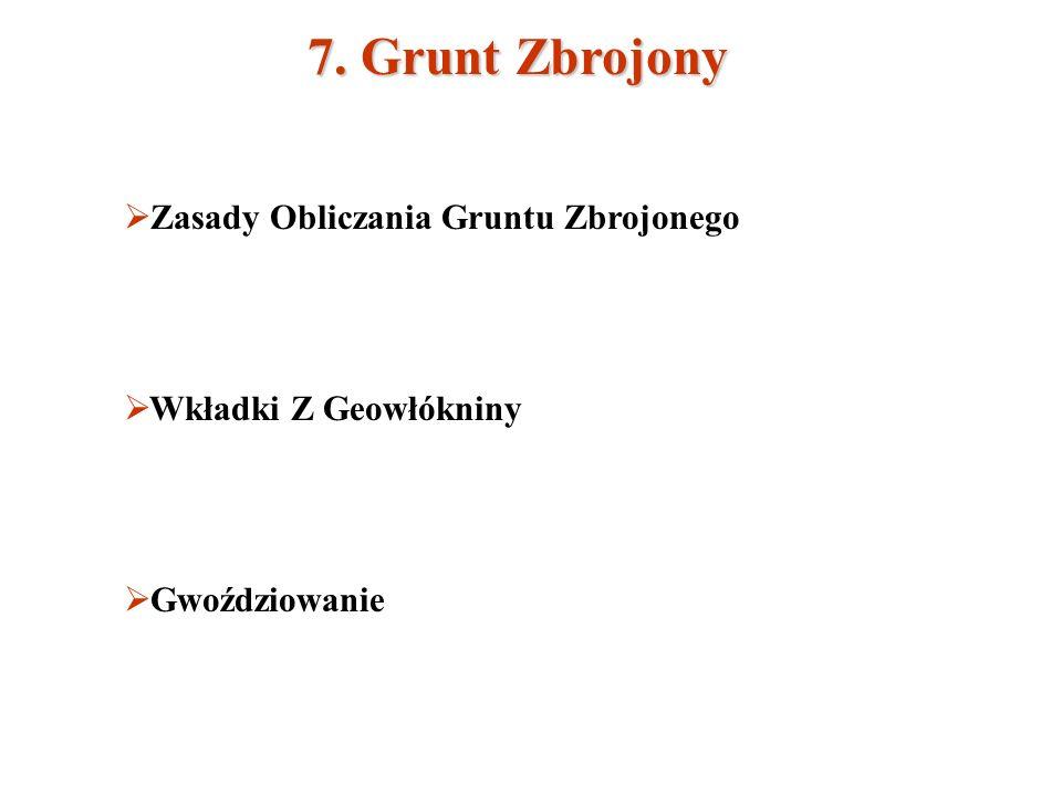 7. Grunt Zbrojony Zasady Obliczania Gruntu Zbrojonego Wkładki Z Geowłókniny Gwoździowanie