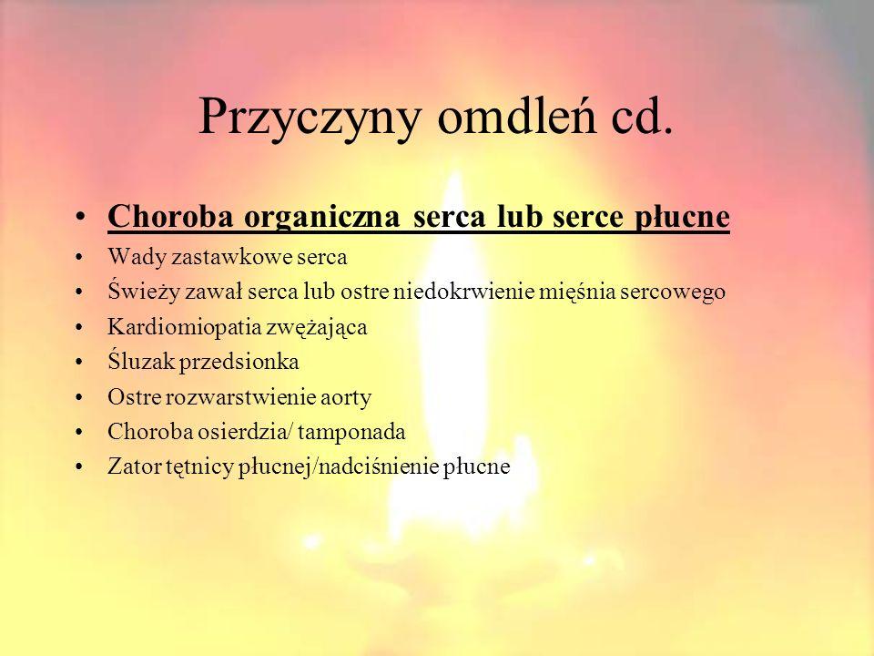 Przyczyny omdleń cd. Choroby naczyniowe mózgu Zespoły podkradania