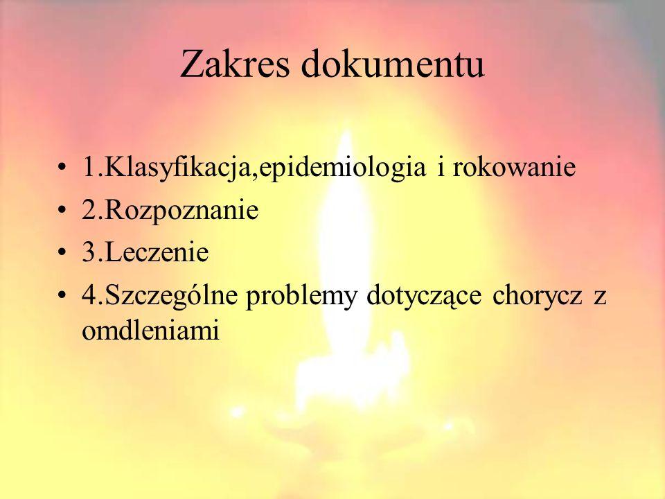 1.Jakie są kryteria rozpoznawania przyczyn omdlenia.